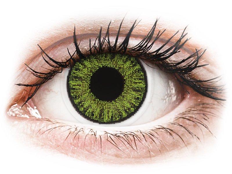 TopVue Color - Fresh green - dioptrické jednodenní (10 čoček) - Barevné kontaktní čočky