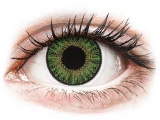 Barevné kontaktní čočky - nedioptrické - TopVue Color - Green - nedioptrické jednodenní (10 čoček)