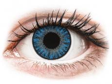 Modré kontaktní čočky - dioptrické - TopVue Color - Sapphire Blue - dioptrické jednodenní (10 čoček)