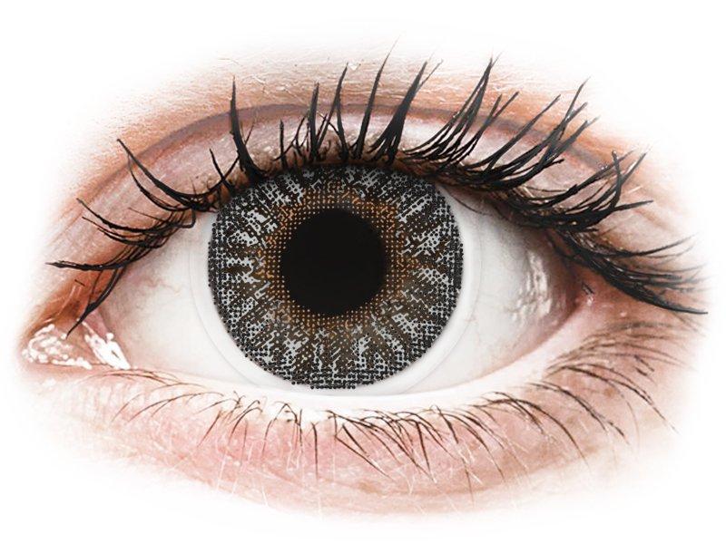 TopVue Color - Grey - dioptrické (2 čočky) - Barevné kontaktní čočky