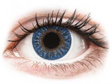 Modré kontaktní čočky - dioptrické - TopVue Color - True Sapphire - dioptrické (2čočky)