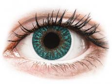 Modré kontaktní čočky - nedioptrické - TopVue Color - Turquoise - nedioptrické (2čočky)