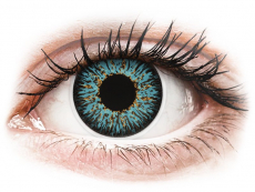 Modré kontaktní čočky - dioptrické - ColourVUE Glamour Aqua - dioptrické (2čočky)