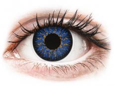 Modré kontaktní čočky - dioptrické - ColourVUE Glamour Blue - dioptrické (2čočky)