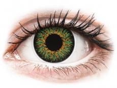 Barevné kontaktní čočky - dioptrické - ColourVUE Glamour Green - dioptrické (2čočky)