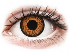Hnědé kontaktní čočky - nedioptrické - ColourVUE Glamour Honey - nedioptrické (2čočky)