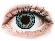 Modré kontaktní čočky - nedioptrické - ColourVUE Elegance Aqua - nedioptrické (2čočky)