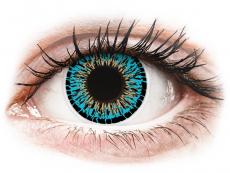 Modré kontaktní čočky - nedioptrické - ColourVUE Elegance Blue - nedioptrické (2čočky)