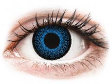 Modré kontaktní čočky - nedioptrické - ColourVUE Eyelush Aqua - nedioptrické (2čočky)