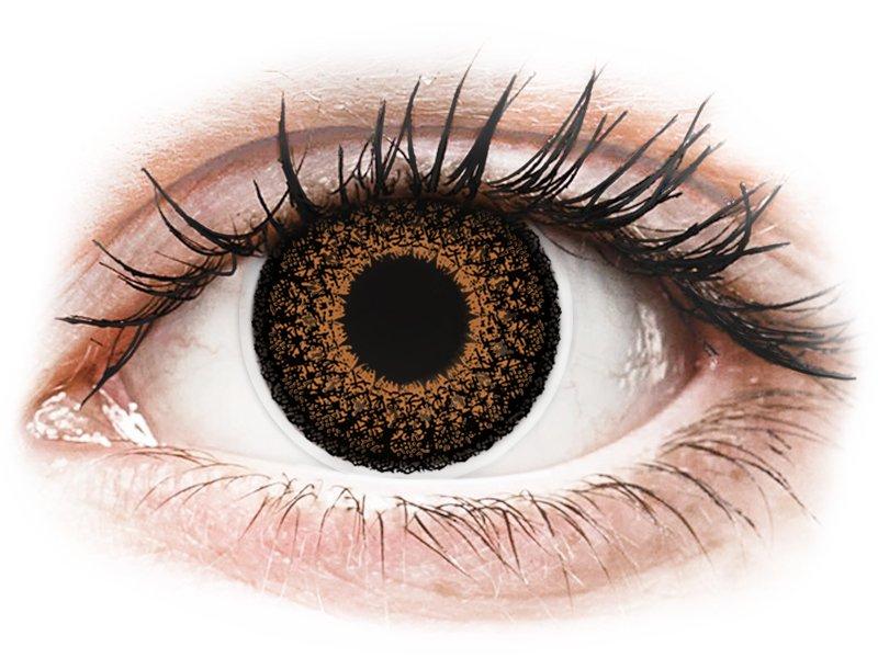 ColourVUE Eyelush - nedioptrické (2 čočky) Brown