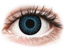 Barevné kontaktní čočky - dioptrické - ColourVUE Eyelush Blue - dioptrické (2čočky)