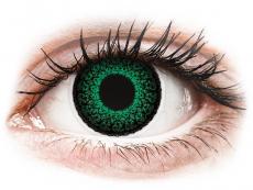 Barevné kontaktní čočky - dioptrické - ColourVUE Eyelush Green - dioptrické (2čočky)