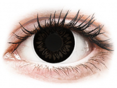 Černé kontaktní čočky - dioptrické - ColourVUE BigEyes Dolly Black - dioptrické (2čočky)