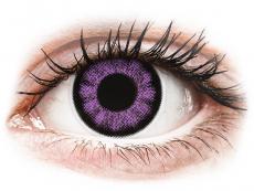Fialové kontaktní čočky - nedioptrické - ColourVUE BigEyes Ultra Violet - nedioptrické (2čočky)