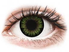Zelené kontaktní čočky - nedioptrické - ColourVUE BigEyes Party Green - nedioptrické (2čočky)
