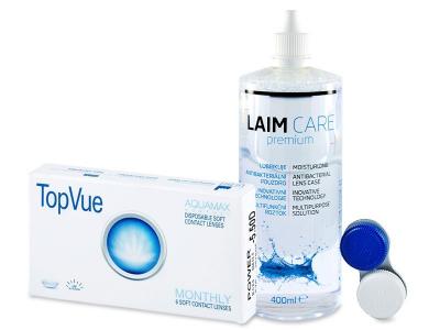 TopVue Monthly (6čoček) + roztok Laim Care 400 ml
