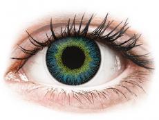 Modré kontaktní čočky - dioptrické - ColourVUE Fusion Yellow Blue - dioptrické (2čočky)