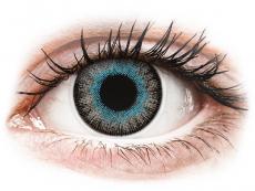 Modré kontaktní čočky - dioptrické - ColourVUE Fusion Blue Gray - dioptrické (2čočky)