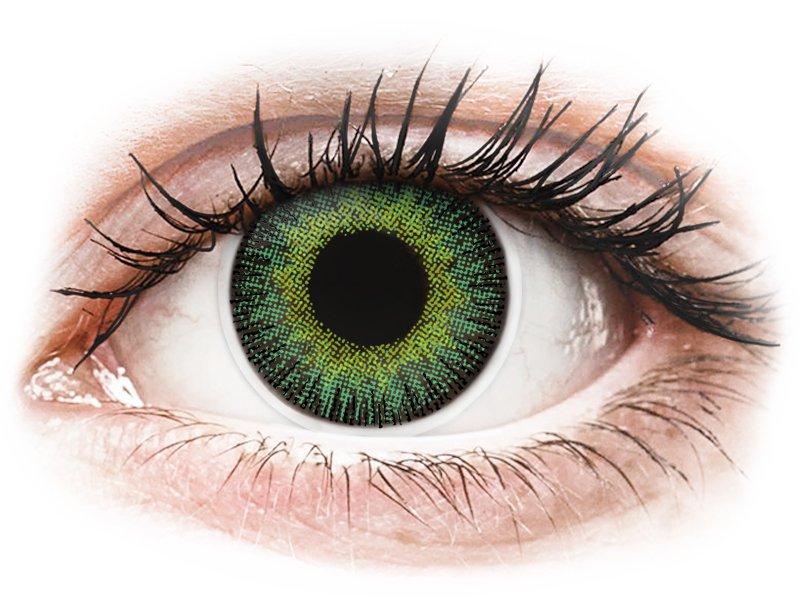 ColourVUE Fusion - dioptrické (2 čočky) Green Yellow