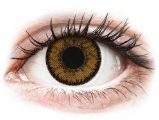 Hnědé kontaktní čočky - dioptrické - SofLens Natural Colors India - dioptrické (2čočky)
