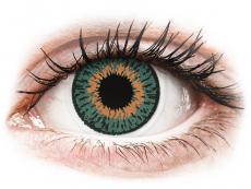 Barevné kontaktní čočky - dioptrické - Expressions Colors Aqua - dioptrické (1 čočka)