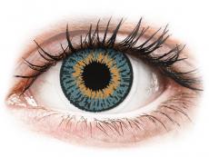 Modré kontaktní čočky - dioptrické - Expressions Colors Blue - dioptrické (1 čočka)