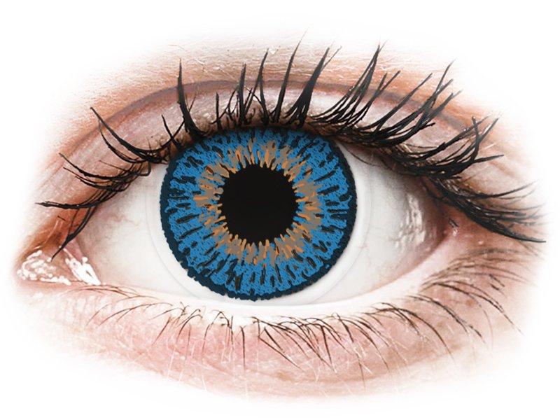 Expressions Colors Dark Blue - dioptrické (1 čočka) - Barevné kontaktní čočky