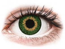 Barevné kontaktní čočky - dioptrické - Expressions Colors Green - dioptrické (1 čočka)