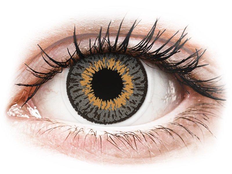 Expressions Colors Grey - dioptrické (1 čočka) - Barevné kontaktní čočky