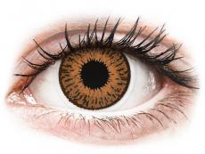 Barevné kontaktní čočky - dioptrické - Expressions Colors Hazel - dioptrické (1 čočka)