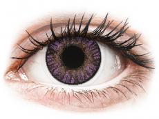Barevné kontaktní čočky - dioptrické - FreshLook ColorBlends Amethyst - dioptrické (2čočky)