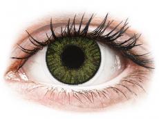 Barevné kontaktní čočky - dioptrické - FreshLook ColorBlends Green - dioptrické (2čočky)