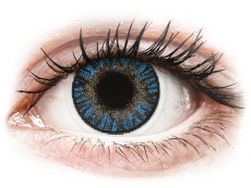 Modré kontaktní čočky - dioptrické - FreshLook ColorBlends True Sapphire - dioptrické (2čočky)