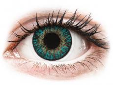 Modré kontaktní čočky - dioptrické - FreshLook ColorBlends Turquoise - dioptrické (2čočky)