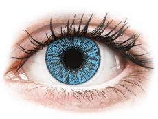 Modré kontaktní čočky - dioptrické - FreshLook Colors Sapphire Blue - dioptrické (2čočky)