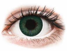 Barevné kontaktní čočky - dioptrické - FreshLook Dimensions Carribean Aqua - dioptrické (6čoček)