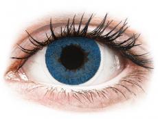 Modré kontaktní čočky - dioptrické - FreshLook Dimensions Pacific Blue - dioptrické (6čoček)
