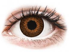 Barevné kontaktní čočky - dioptrické - Expressions Colors Brown - dioptrické (1 čočka)