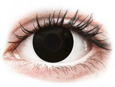 Barevné kontaktní čočky - nedioptrické - ColourVUE Crazy Lens - Blackout - nedioptrické jednodenní (2čočky)