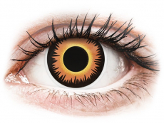 Barevné kontaktní čočky - nedioptrické - ColourVUE Crazy Lens - Orange Werewolf - nedioptrické jednodenní (2čočky)