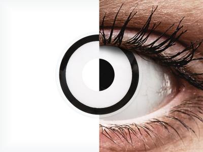 ColourVUE Crazy Lens - White Zombie - nedioptrické jednodenní (2 čočky)