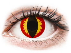 Červené kontaktní čočky - nedioptrické - ColourVUE Crazy Lens - Dragon Eyes - nedioptrické jednodenní (2čočky)