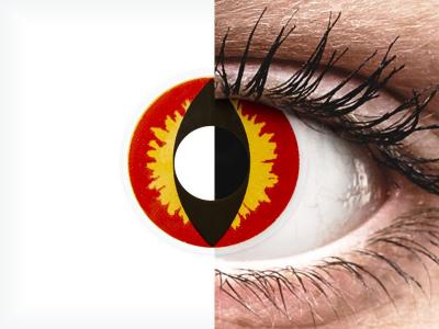 ColourVUE Crazy Lens - Dragon Eyes - nedioptrické jednodenní (2 čočky)