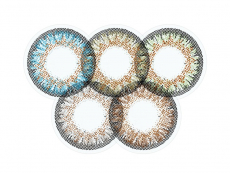 Modré kontaktní čočky - nedioptrické - ColourVue One Day TruBlends Rainbow 1 - nedioptrické (10čoček)