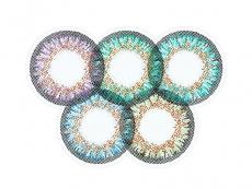 Modré kontaktní čočky - nedioptrické - ColourVue One Day TruBlends Rainbow 2 - nedioptrické (10čoček)