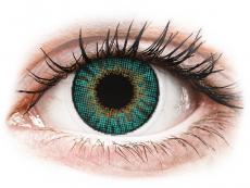 Barevné kontaktní čočky - dioptrické - Air Optix Colors - Turquoise - dioptrické (2čočky)