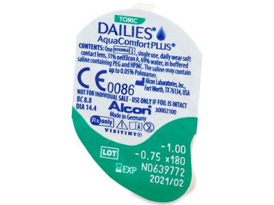 Dailies AquaComfort Plus Toric (90čoček) -