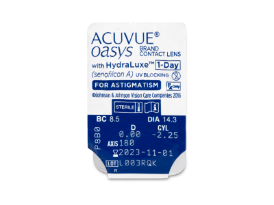 Acuvue Oasys 1-Day with HydraLuxe for Astigmatism (30 čoček) -