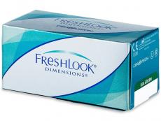 Barevné kontaktní čočky - FreshLook Dimensions - dioptrické (6čoček)