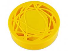 Kazety se zrcátkem - Kazetka s ornamentem - žlutá